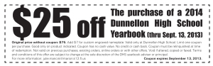 Here's our 2014 coupon, just one part of our yearbook marketing strategy.