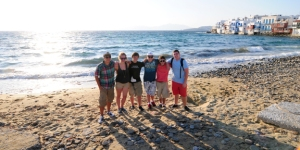 When we go on our adventures, we often take tours. These students posing with my son (far left) in Mykonos were all part of an EF Tour to Greece (by land and by sea). Greece was my son's high school graduation trip in the summer of 2012.
