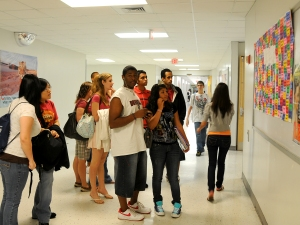 After the yearbook is finished and we have compiled a complete index, We create a sign with the names of all the students who are in the book three or more time and have yet to purchase it. The sign gets a lot of attention in the hallway.