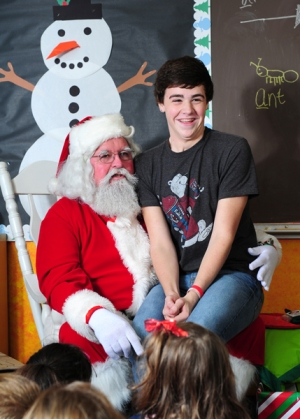 Everyone, even the big kids, loves the Santa press conference.