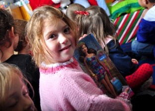 In 2012, the Dunnellon Police Department was able to help us by providing a doll or truck for each child.